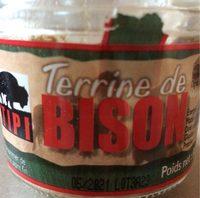 Terrine de Bison - Produit
