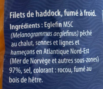 Filet de haddock - Ingrédients
