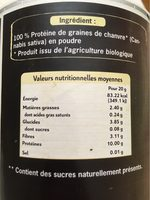 Protéine De Chanvre Cru En Poudre Bio - 200 G - Uberti - Voedigswaarden