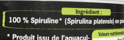 Spiruline bio - Ingredientes - fr
