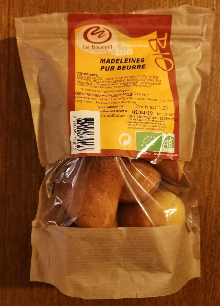 Madeleines pur beurre - Product - fr