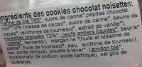 Cookies chocolat noisette - Ingredients