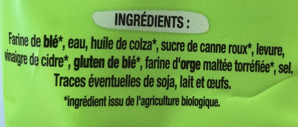 Grandes tranches Nature Bio - Ingrediënten