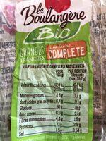 Pain de mie à la farine complète - Informação nutricional - fr