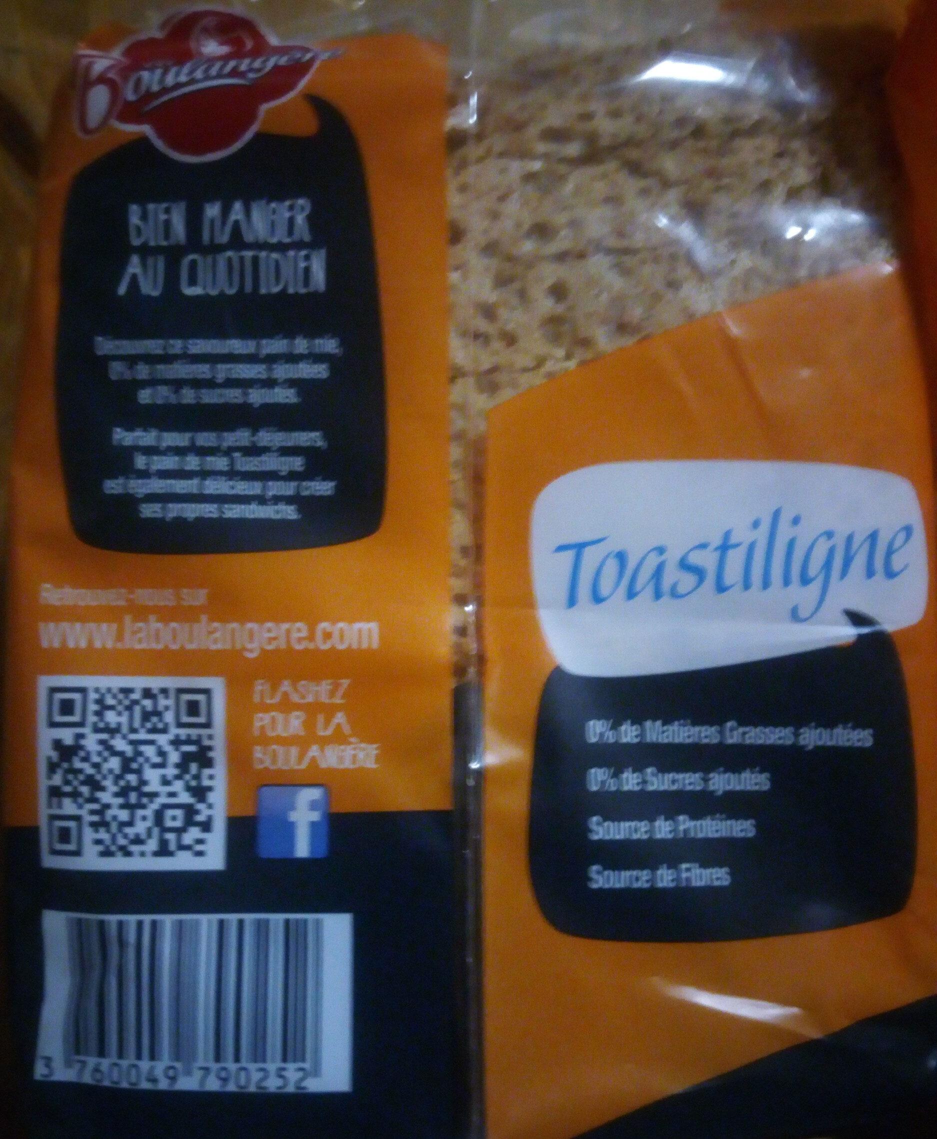 Pain de mie à la farine complète Toastiligne - Product - fr