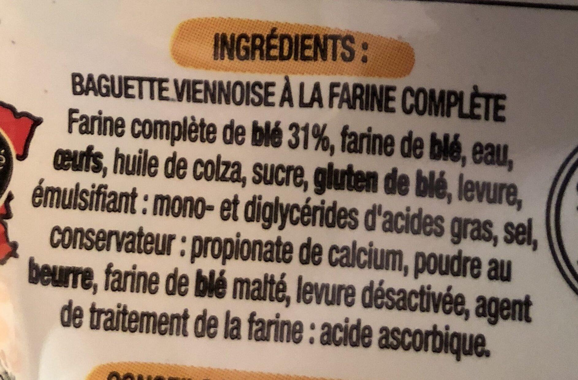 Baguette Viennoises Complète - Ingrédients - fr