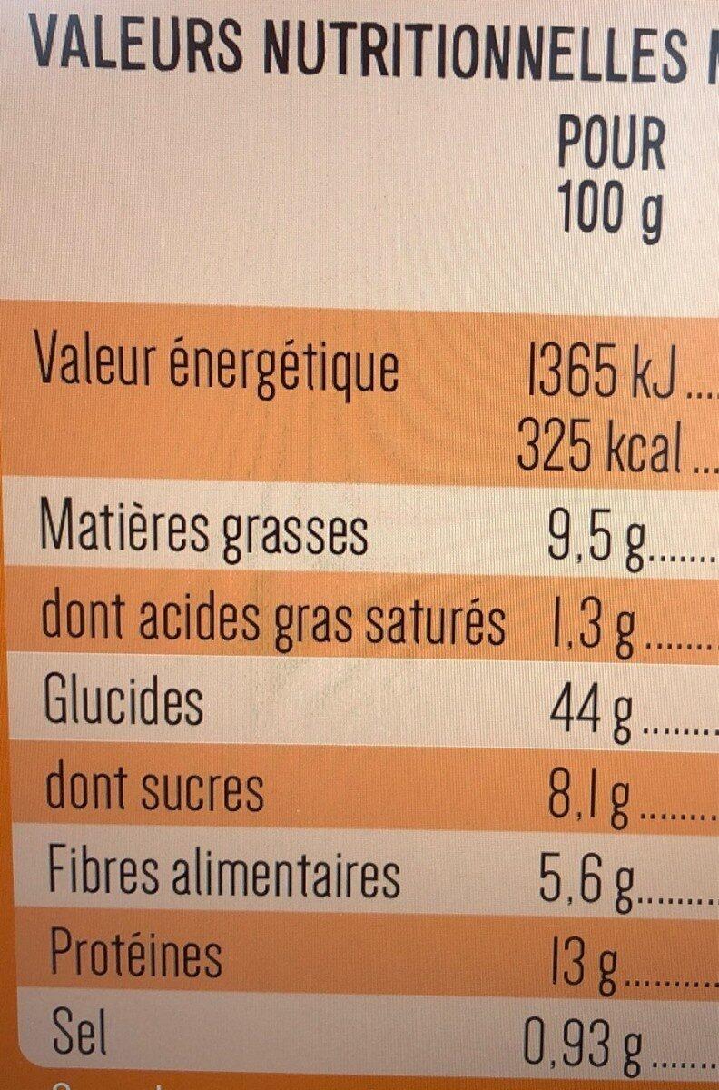 Baguette Viennoises Complète - Informations nutritionnelles - fr