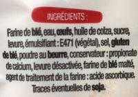 Baguettes viennoises - Ingredienti - fr
