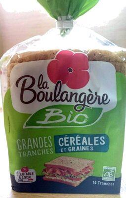 Pain de mie bio Céréales et graines - Produit - fr