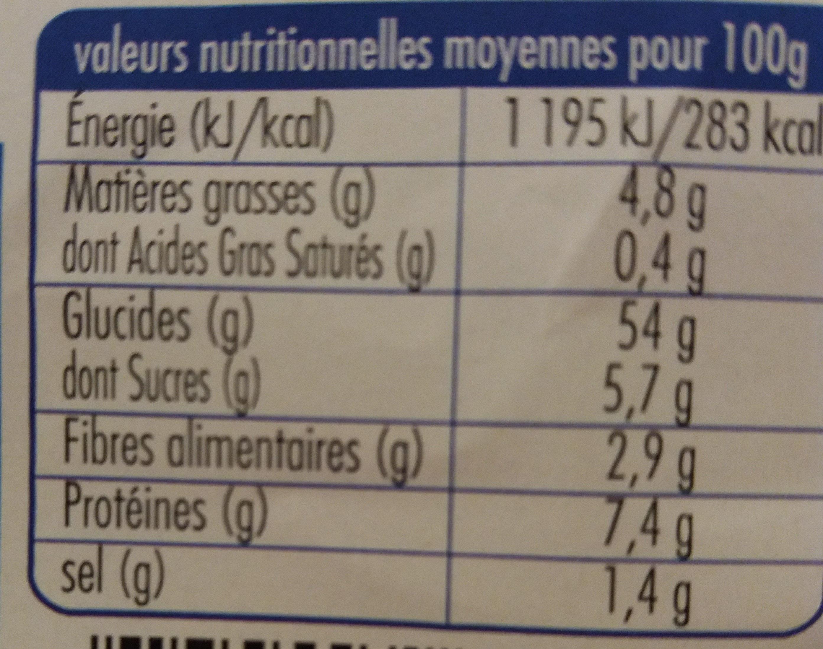 Pain de mie nature Bio (14 tranches) - Nutrition facts - en