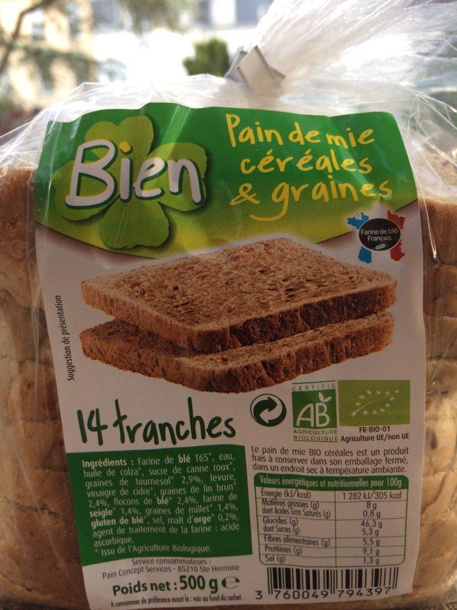 Pain de mie céréales graines - Produit - fr