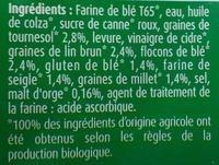 Pain de mie céréales & graines - Ingrédients