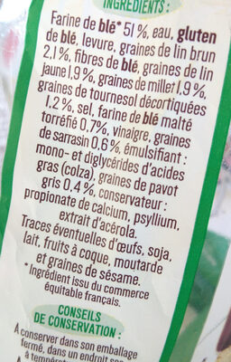 Toastiligne Céréales 0% matières grasses et sucres - Inhaltsstoffe