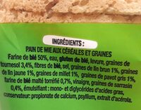 Toastiligne - Ingredients - fr
