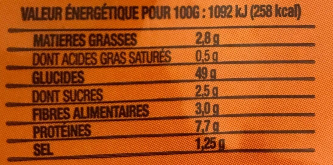 Pains Bruschetta - Voedingswaarden - fr