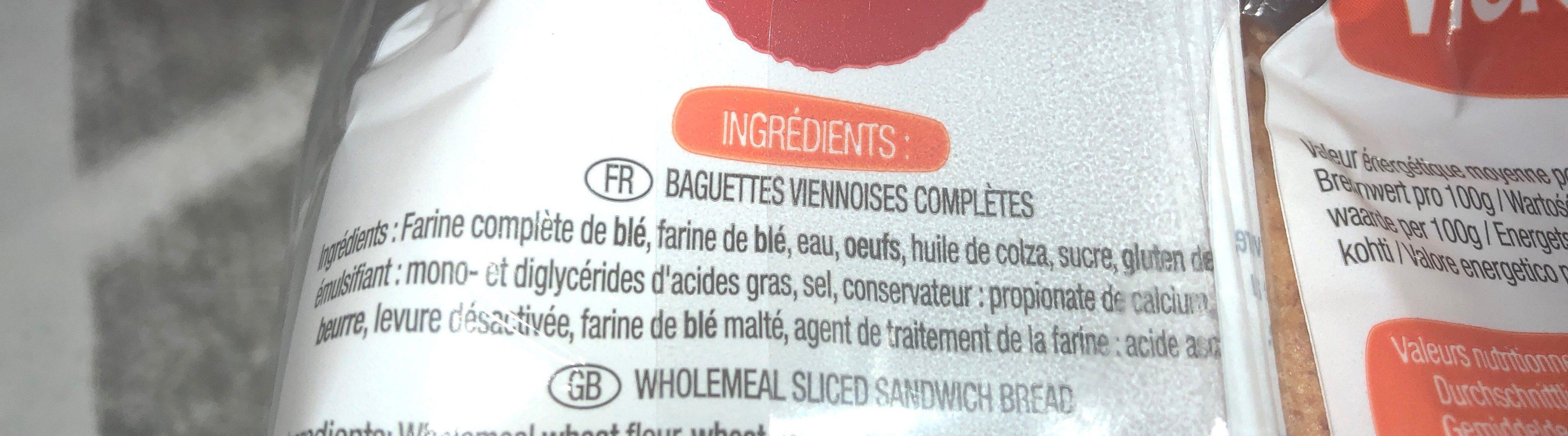 4 Baguettes viennoises - Ingrediënten - fr