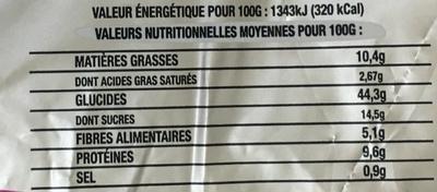 Pain de Noël - Valori nutrizionali - fr