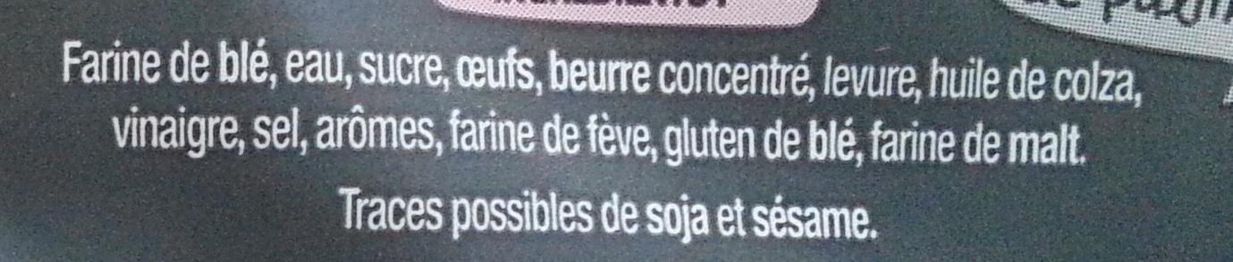 4 Muffins Viennois - Ingredients - fr