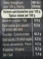 Pain de mie Complet Bio sans croûte - Voedingswaarden - fr
