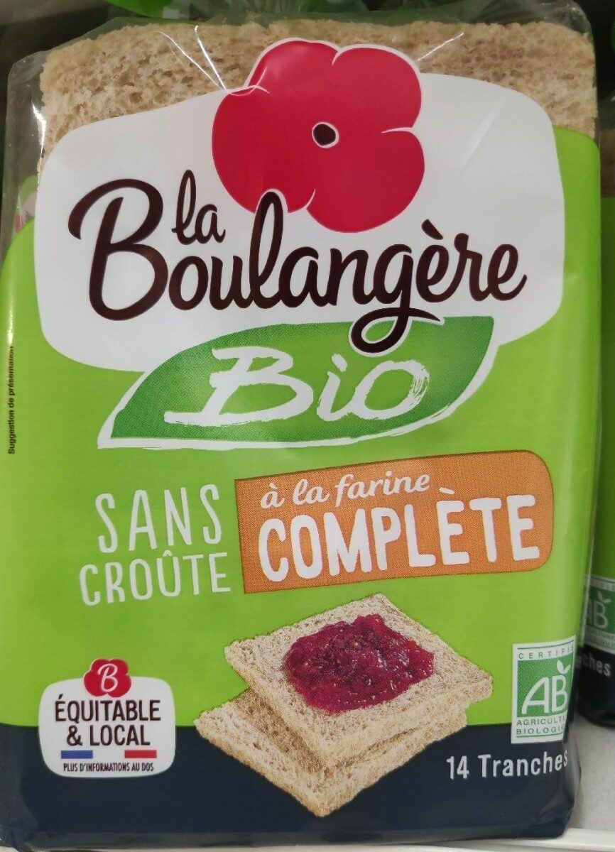 Boulangère pain de mie complet sans croûte bio - Prodotto - fr