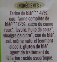 Boulangère pain de mie complet sans croûte bio - Ingredienti - fr