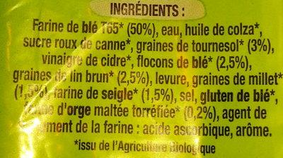 Pain de mie céréales & graines bio - Ingredienti - fr