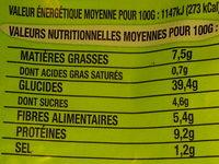 Pain de mie céréales & graines bio - Valori nutrizionali - fr