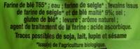 Pavé Au Levain Bio - A réchauffer - Ingrediënten