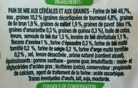 Tartines céréales et graines - Ingrédients - fr
