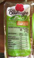 Pain de mie complet bio - Valori nutrizionali - fr
