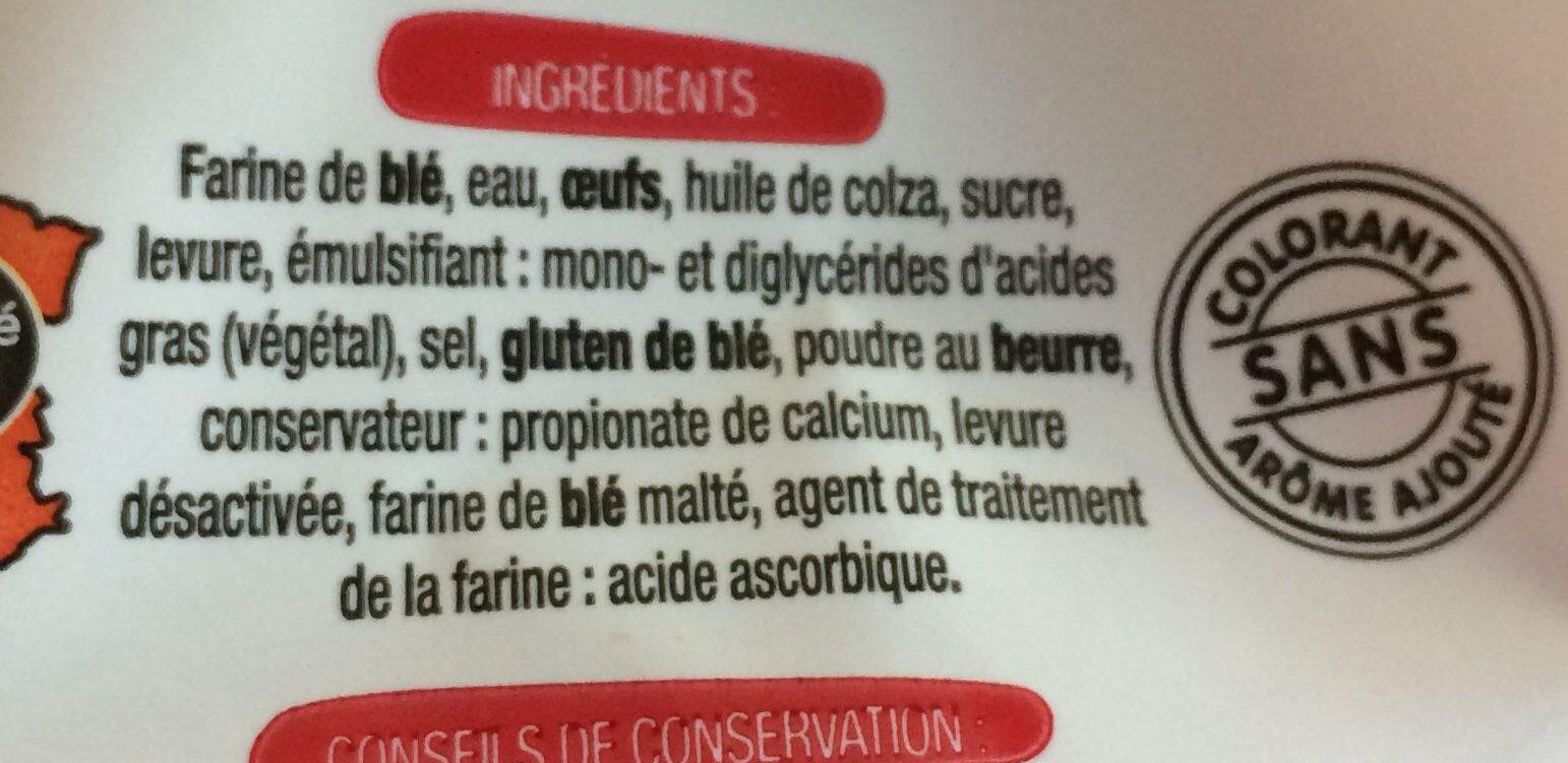 6 Baguettes Viennoises - Ingrédients - fr