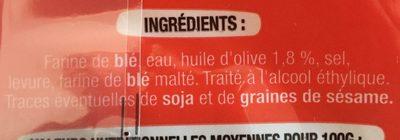 Mini pains Bruschetta nature - Ingrediënten - fr