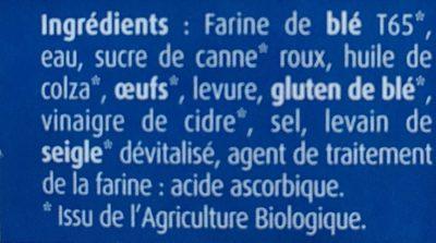 Baguettes Viennoises X4 - Ingredients