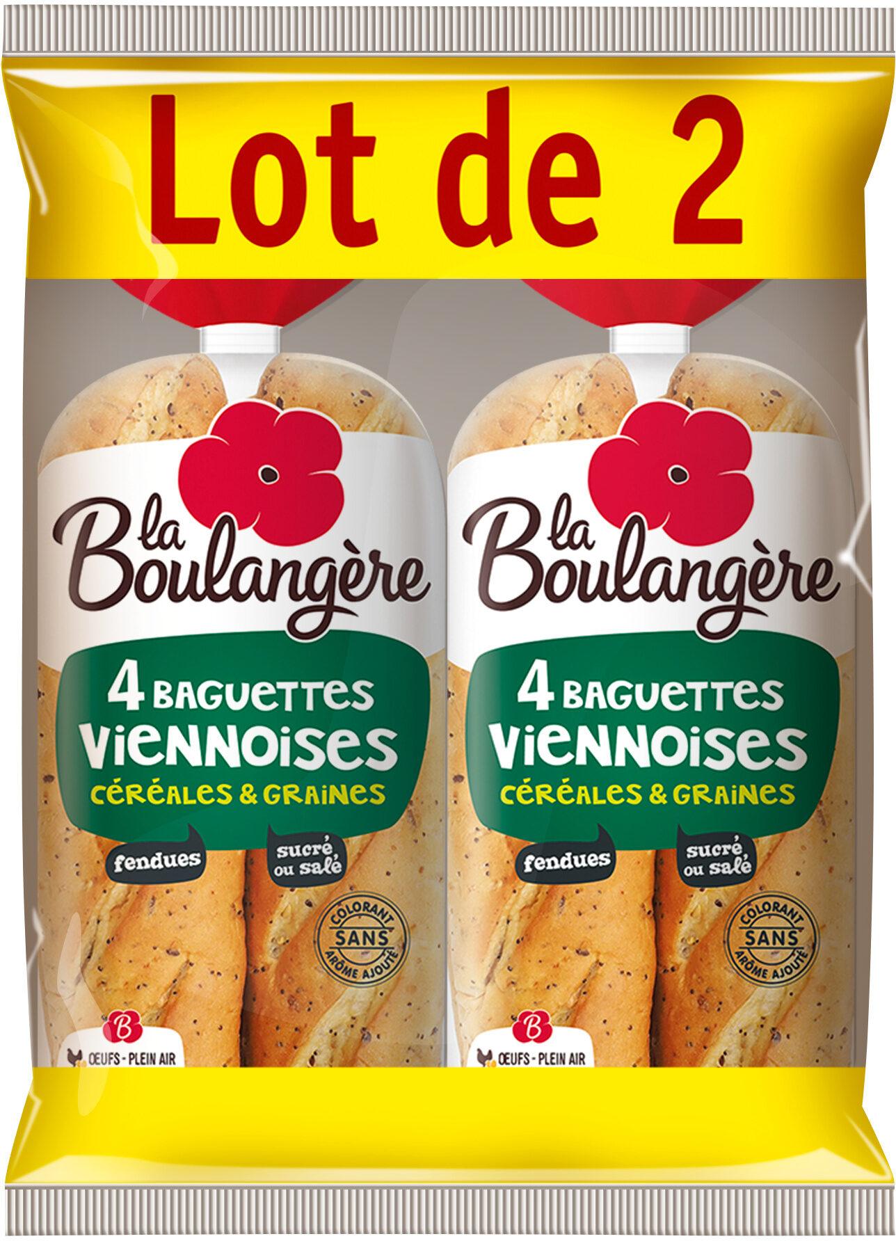 Lot Baguettes Viennoises Céréales et Graines et Baguettes Viennoises à la Farine Complète - Prodotto - fr