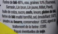 Lot Baguettes Viennoises Céréales et Graines et Baguettes Viennoises à la Farine Complète - Ingredienti - fr