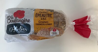 L'Atelier - Pain farines : épeautre & blé, graines de tournesol et pavot - Prodotto - fr