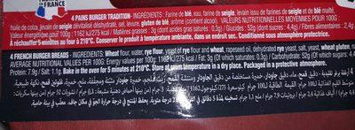 PAINS BURGER - Ingrediënten - fr