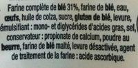 Baguette Viennoise Complète - Ingrediënten