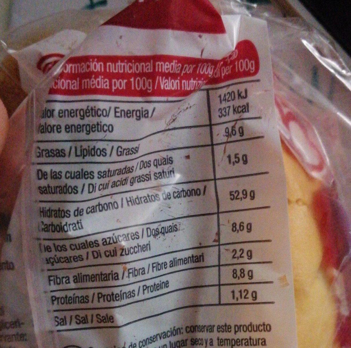 Mini Baguette Viena - Información nutricional - es