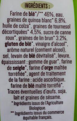 Tartines quinoa et graine - Ingredients - fr