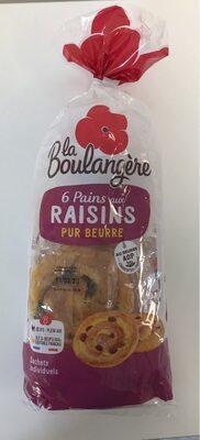 6 Pains aux raisins Pur Beurre - Product - fr