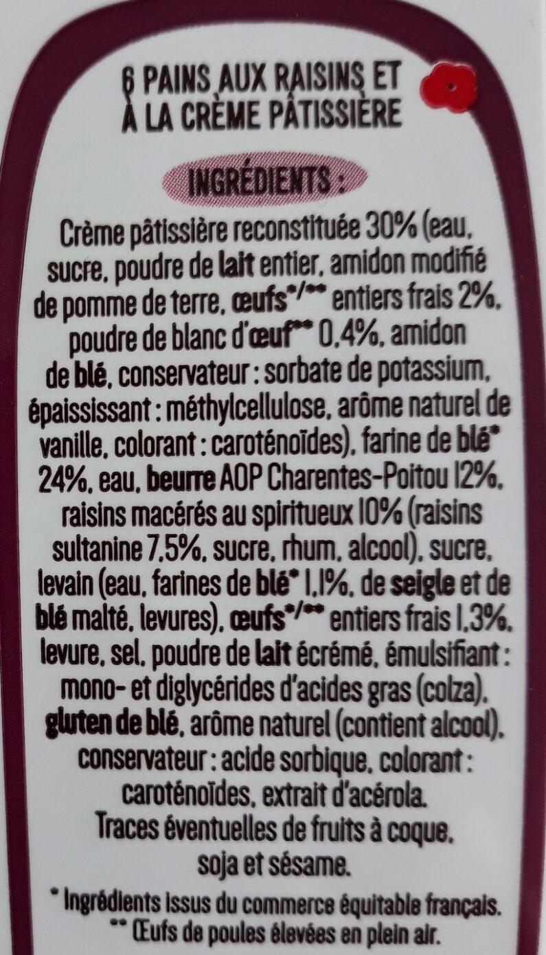 6 Mini Pains aux Raisins - Ingrediënten