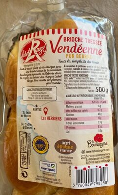 Brioche tressée Vendéene Label Rouge - Product - fr