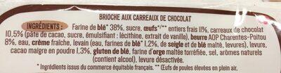 Brioche facon moelleux au chocolat - Ingrediënten - fr