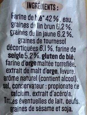 Seigle & graines - Ingrédients - fr