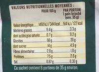 La Boulangère B'Vegan - Informations nutritionnelles - fr