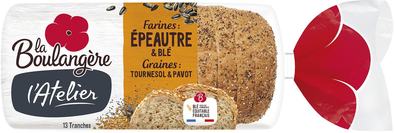 Pain de mie Épeautre & Blé, graines de Tournesol et Pavot - Prodotto - fr