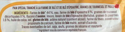 Pain de mie Épeautre & Blé, graines de Tournesol et Pavot - Ingredienti - fr