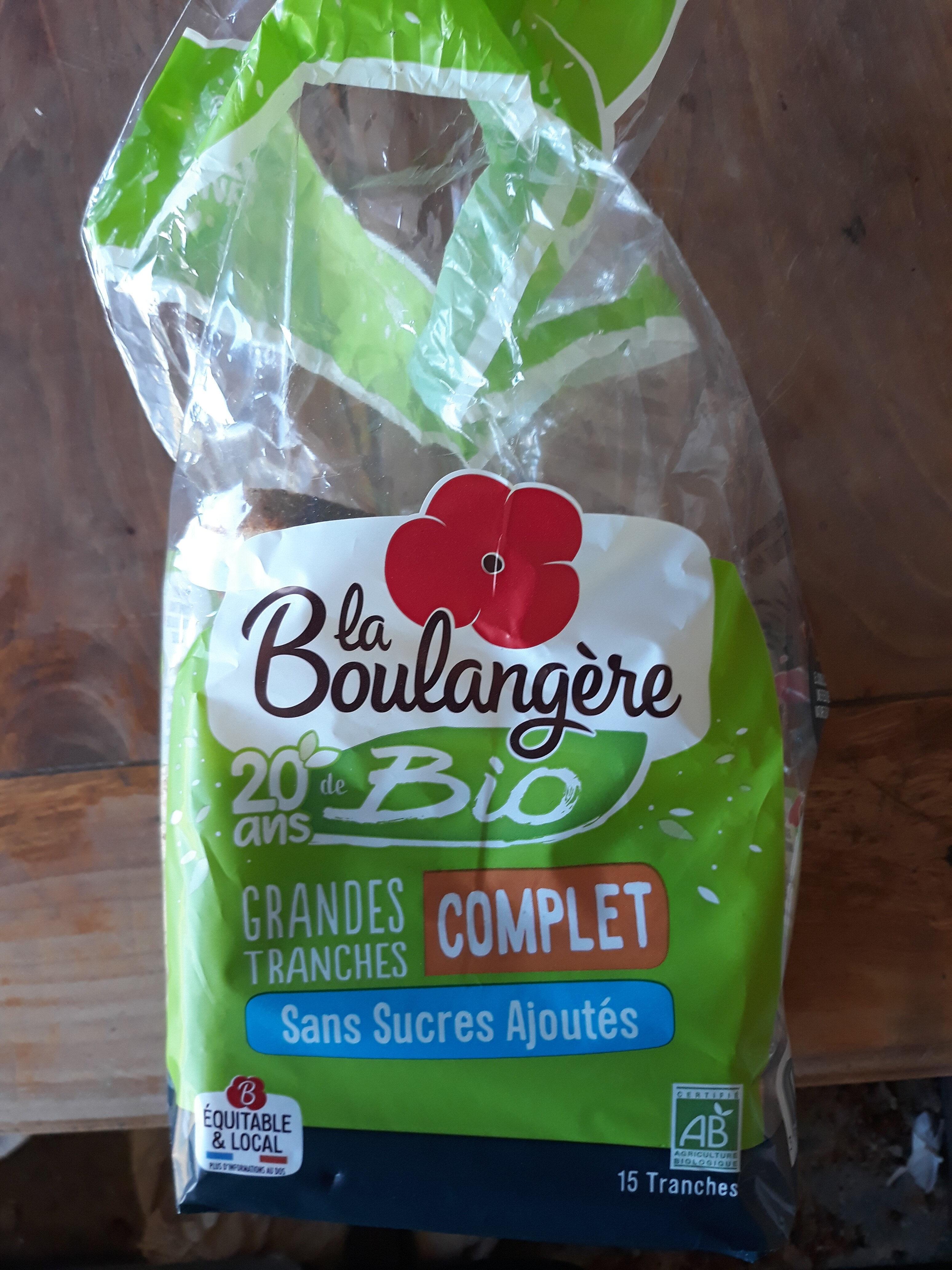 Pain de mie BIO à la farine complète Sans Sucres Ajoutés - 500g - Prodotto - fr