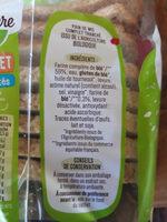 Pain de mie BIO à la farine complète Sans Sucres Ajoutés - 500g - Ingredienti - fr